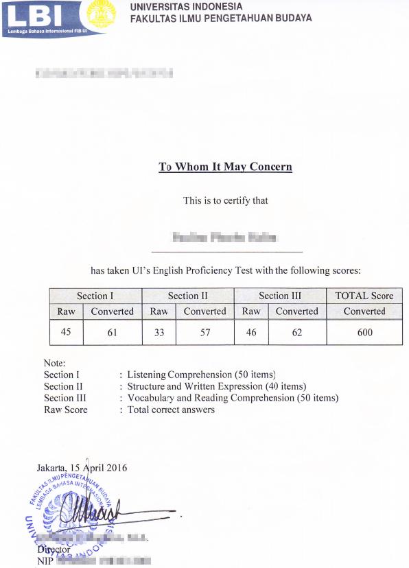 Toefl Persyaratan Pendaftaran S1 Kelas Internasional Simak Ui