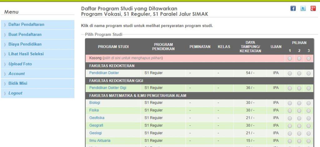 Bidikmisi Simak Ui 2019 Fakultas Hukum Universitas Indonesia